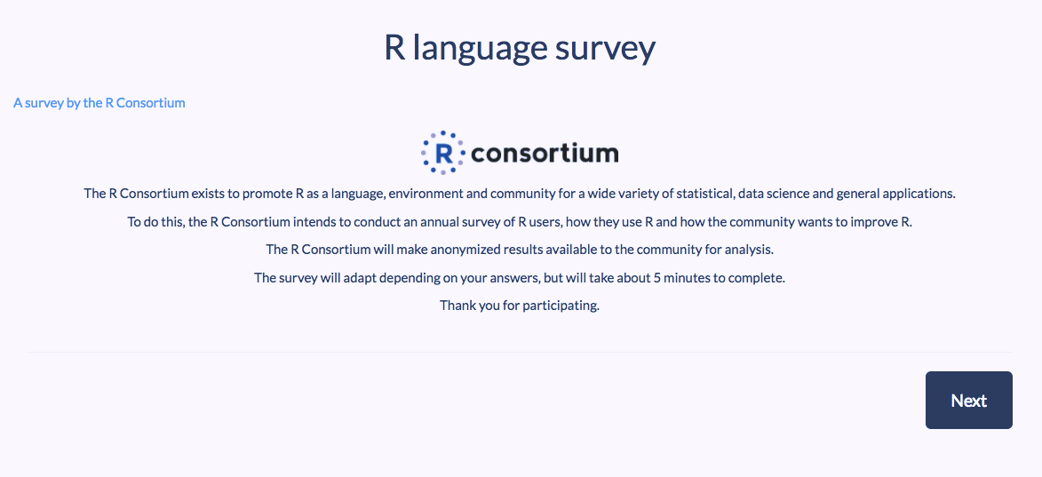 The R Survey